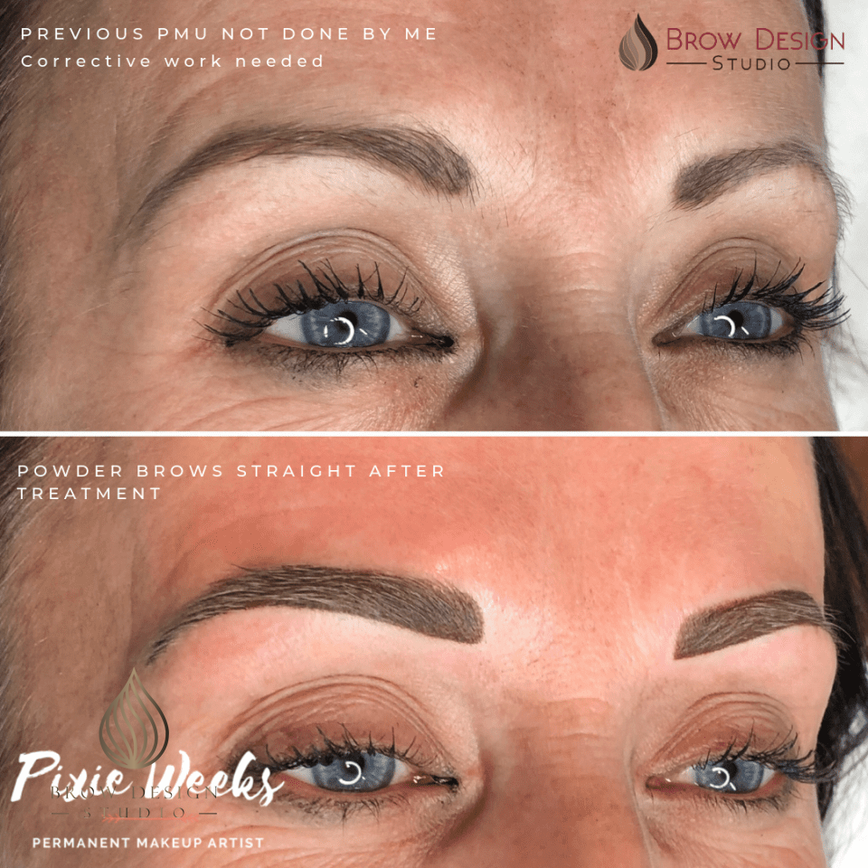 Microblading cover up - powder brow