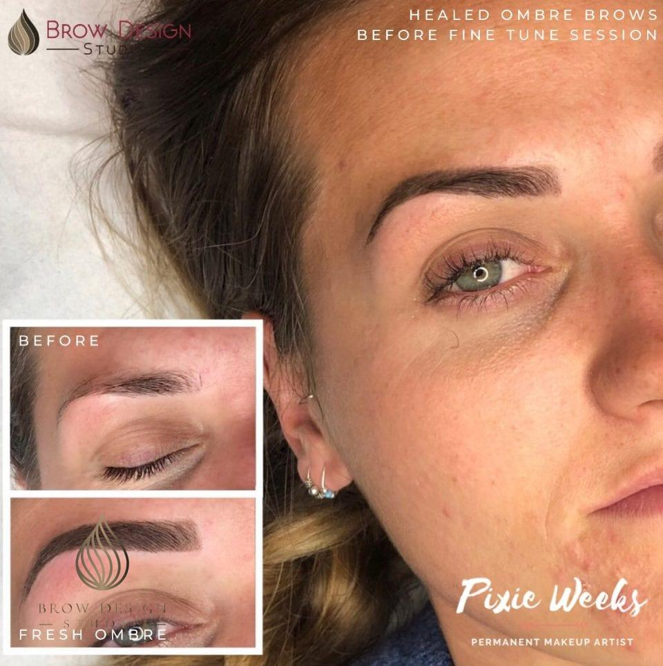 Ombré brows healed by Pixie Weeks