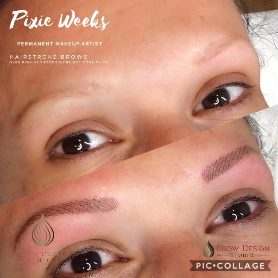 Hairstroke brows by Pixie Weeks