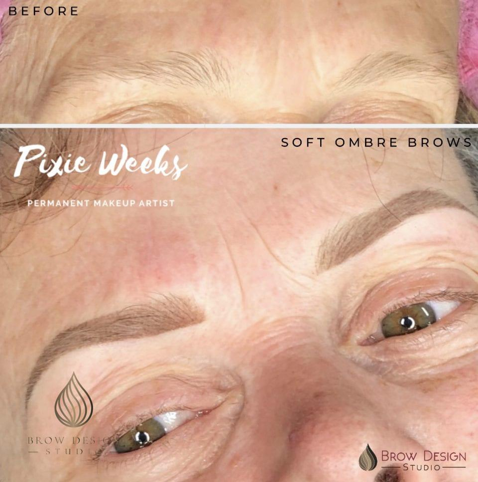 Soft ombré brows by Pixie Weeks